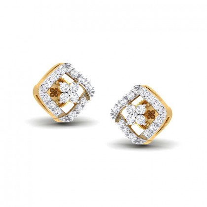 SAMIYA DIAMOND STUDS EARRINGS in 18K Gold
