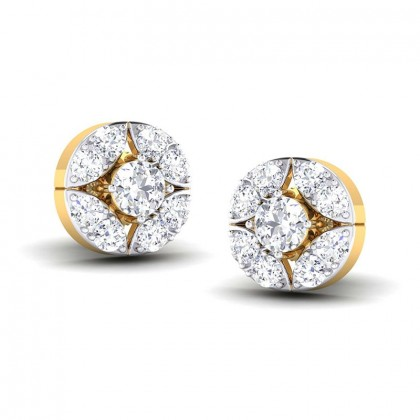 RIA DIAMOND STUDS EARRINGS in 18K Gold