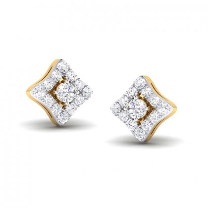 URMIKA DIAMOND STUDS EARRINGS in 18K Gold