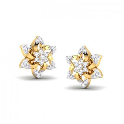 ALYSE DIAMOND STUDS EARRINGS in 18K Gold