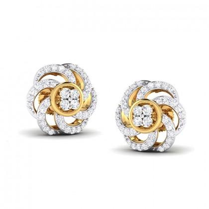 ASMITA DIAMOND STUDS EARRINGS in 18K Gold