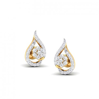 NEHAL DIAMOND STUDS EARRINGS in 18K Gold
