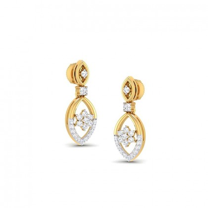 PRESLEY DIAMOND DROPS EARRINGS in 18K Gold