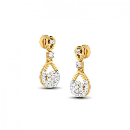TAHLIA DIAMOND DROPS EARRINGS in 18K Gold