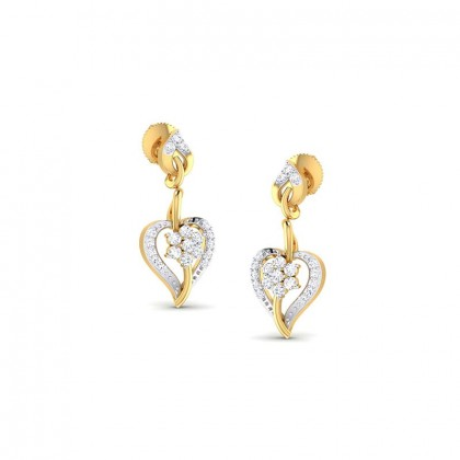 HEATHER DIAMOND DROPS EARRINGS in 18K Gold