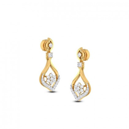 RAIMA DIAMOND DROPS EARRINGS in 18K Gold