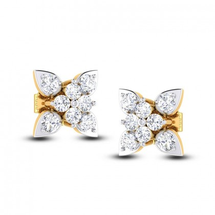 ANIYAH DIAMOND STUDS EARRINGS in 18K Gold