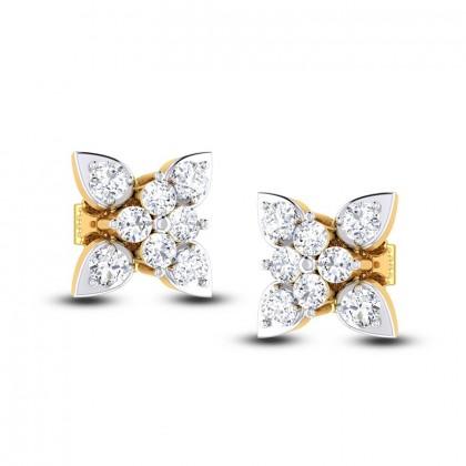 ANIYAH DIAMOND STUDS EARRINGS in 18K Gold