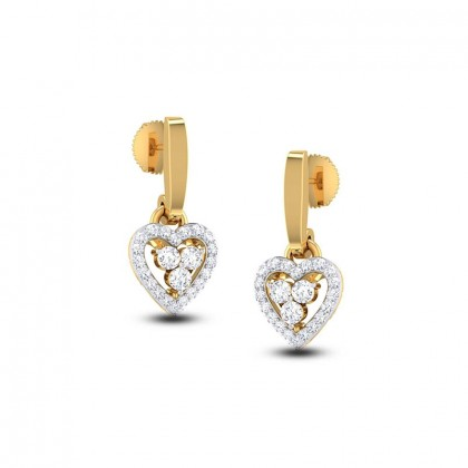 ANAVI DIAMOND DROPS EARRINGS in 18K Gold