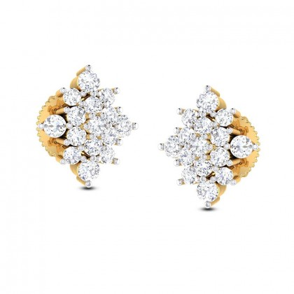 KIRATI DIAMOND STUDS EARRINGS in 18K Gold