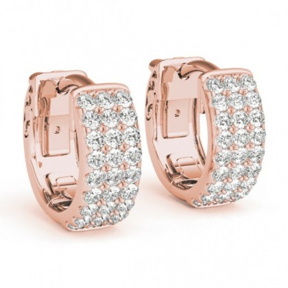 SAMA DIAMOND HOOPS EARRINGS in 18K Gold