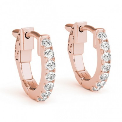 HARSHAL DIAMOND HOOPS EARRINGS in 18K Gold