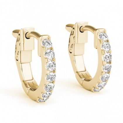 ALPITA DIAMOND HOOPS EARRINGS in 18K Gold