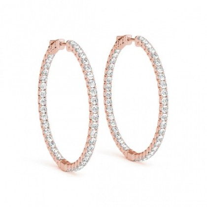 VIVIANA DIAMOND HOOPS EARRINGS in 18K Gold