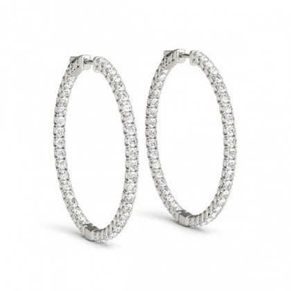 ANSHITA DIAMOND HOOPS EARRINGS in 18K Gold