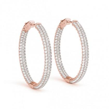 HARSIKA DIAMOND HOOPS EARRINGS in 18K Gold