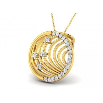 KITTIE DIAMOND FASHION PENDANT in 18K Gold