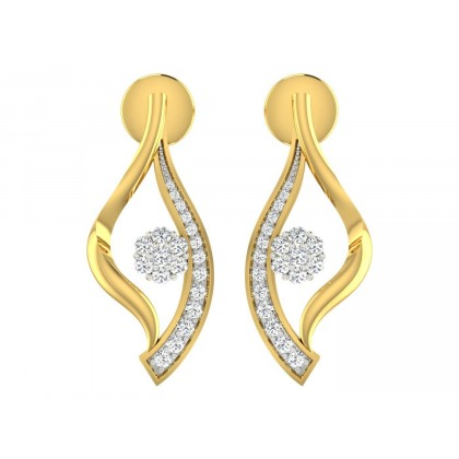 KATRINA DIAMOND DROPS EARRINGS in 18K Gold