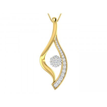 VIVAN DIAMOND FLORAL PENDANT in 18K Gold