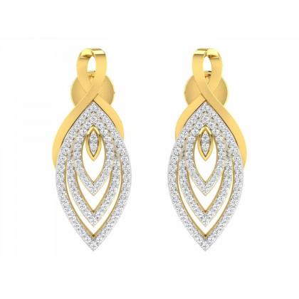 SHEREE DIAMOND DROPS EARRINGS in 18K Gold