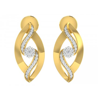 JEFFIE DIAMOND STUDS EARRINGS in 18K Gold