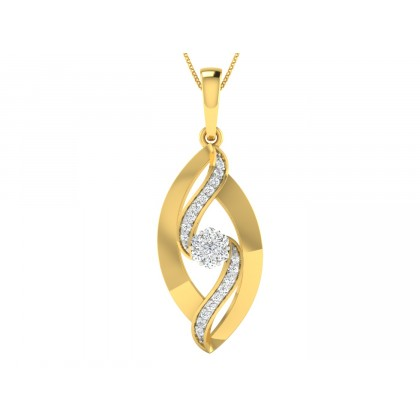 VANETTA DIAMOND FLORAL PENDANT in 18K Gold