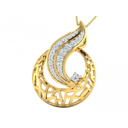 DELICIA DIAMOND FASHION PENDANT in 18K Gold