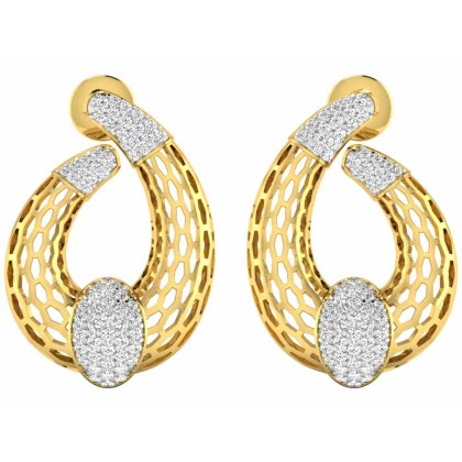 CORETTA DIAMOND STUDS EARRINGS in 18K Gold