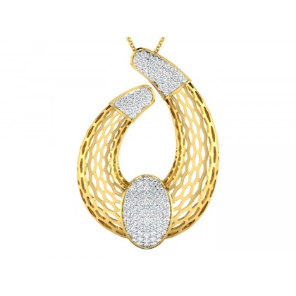 ANTIONETTE DIAMOND FASHION PENDANT in 18K Gold