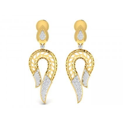 JEANNIE DIAMOND DROPS EARRINGS in 18K Gold