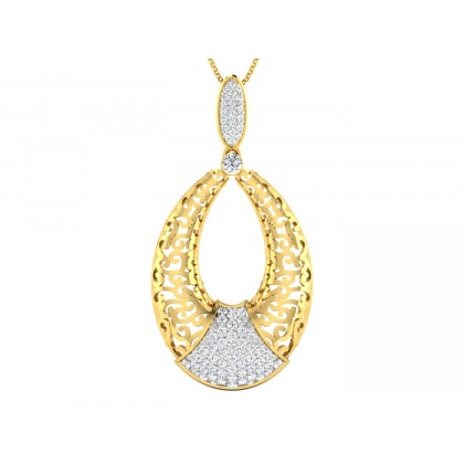 WILLOW DIAMOND FASHION PENDANT in 18K Gold