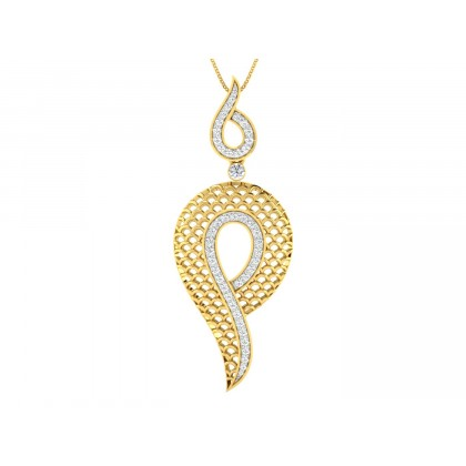 KIZZY DIAMOND FASHION PENDANT in 18K Gold