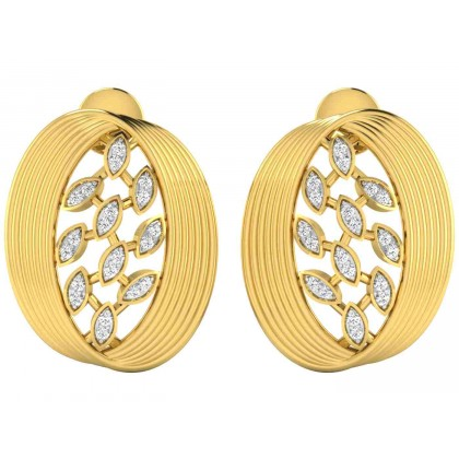 LINDY DIAMOND STUDS EARRINGS in 18K Gold