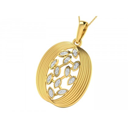PHEBE DIAMOND FLORAL PENDANT in 18K Gold