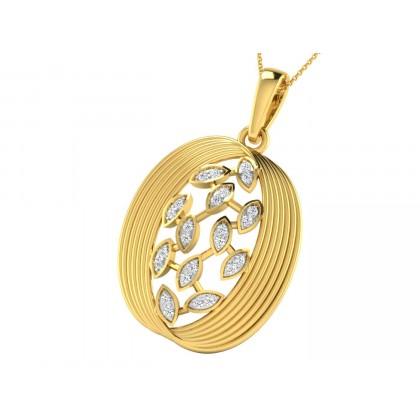 PHEBE DIAMOND FLORAL PENDANT in 18K Gold