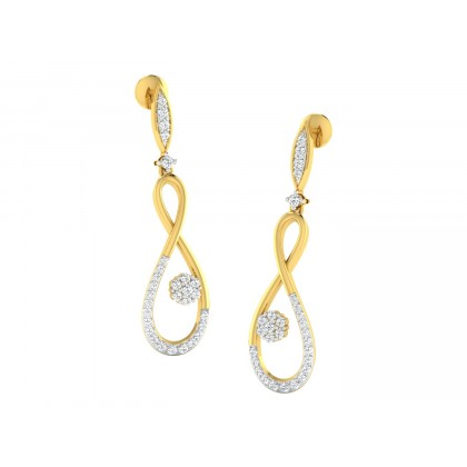NICOLA DIAMOND DROPS EARRINGS in 18K Gold