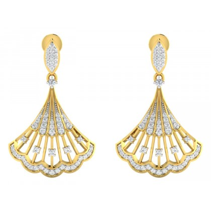 GERALYN DIAMOND DROPS EARRINGS in 18K Gold