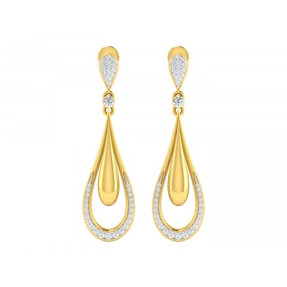 CHIA DIAMOND DROPS EARRINGS in 18K Gold