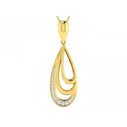 LIZETH DIAMOND FLORAL PENDANT in 18K Gold