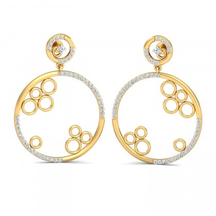 GAYNELL DIAMOND DROPS EARRINGS in 18K Gold