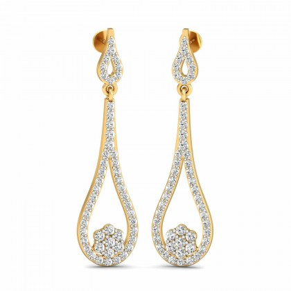 MARYJANE DIAMOND DROPS EARRINGS in 18K Gold