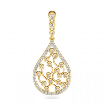 INGE DIAMOND DROPS EARRINGS in 18K Gold