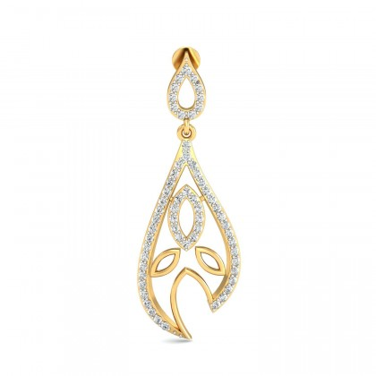 NILSA DIAMOND DROPS EARRINGS in 18K Gold