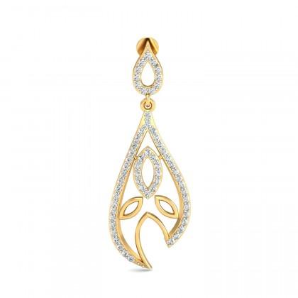 NILSA DIAMOND DROPS EARRINGS in 18K Gold