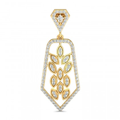 MARISOL DIAMOND DROPS EARRINGS in 18K Gold
