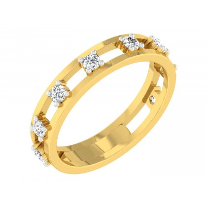 JO DIAMOND BANDS RING in 18K Gold
