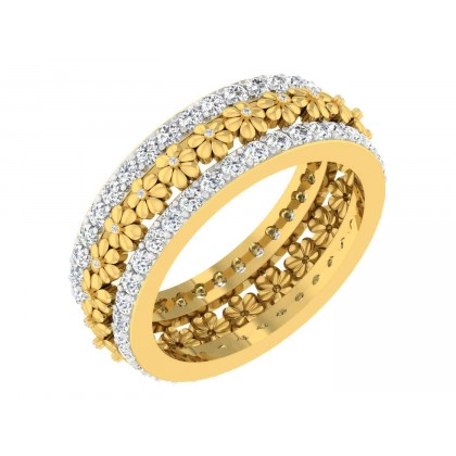 TASHINA DIAMOND BANDS RING in 18K Gold