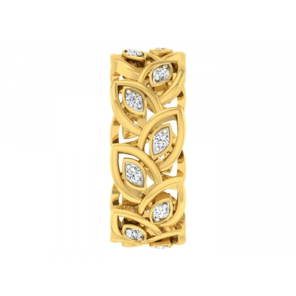 PETRINA DIAMOND BANDS RING in 18K Gold