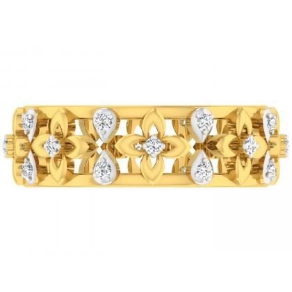 BECKI DIAMOND BANDS RING in 18K Gold