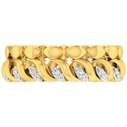 ORPHA DIAMOND BANDS RING in 18K Gold